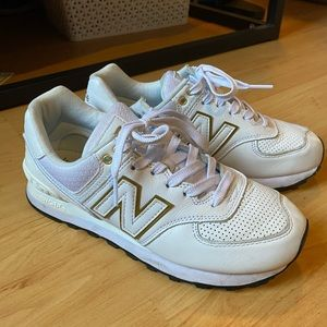 New Balance 574 White Sneakers